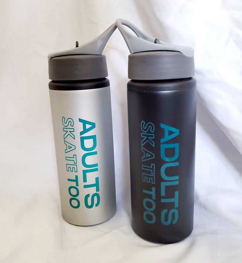 Adults Skate Too Aluminum Water Bottle
