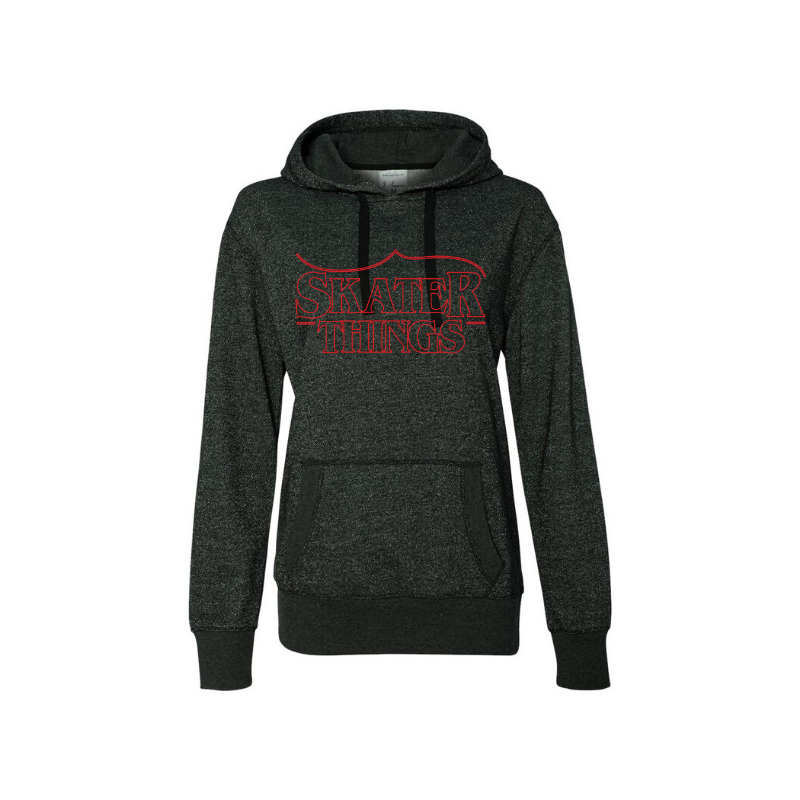 Skater Things Women's French Terry Glitter Hoodie