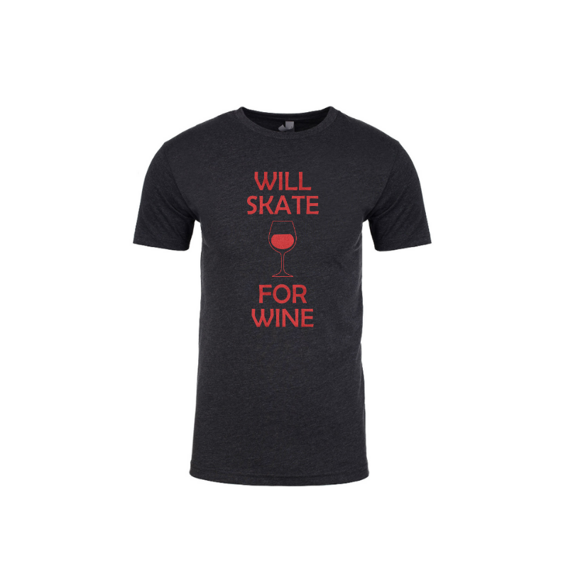 Will Skate For Wine Unisex Tee