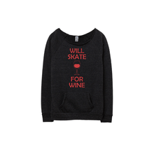 Load image into Gallery viewer, Will Skate For Wine Eco Fleece Sweatshirt