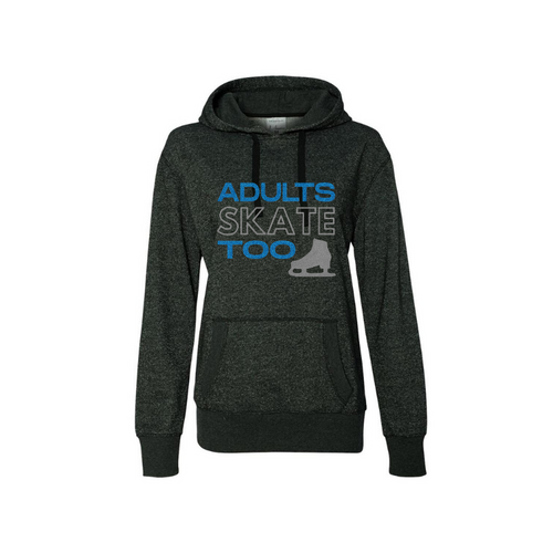 Adults Skate Too Glitter Edition Women's French Terry Glitter Hoodie