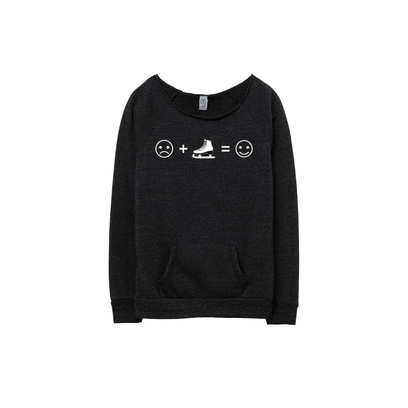 ☹️+⛸️=🙂 Eco Fleece Sweatshirt