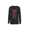 Will Skate For Pizza Women's Burnout Hoodie