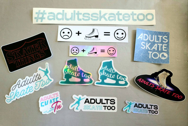 Adults Skate Too Sticker Bundle
