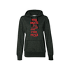 Will Skate For Pizza Women's French Terry Glitter Hoodie