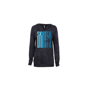 Ombre Skater Women's Burnout Hoodie