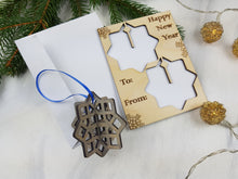 Load image into Gallery viewer, Unique Christmas Cards, Pop Out Ornaments, Snowflake Ornament, Geometric Ornament, Holiday Blank card,