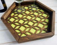 Load image into Gallery viewer, Coffee Table Tray, Wood Serving Tray, Modern Tray, Coffee Tray, Nightstand Decor, Tea Tray, Catch All Tray, Catch All, Trinket Tray, Green