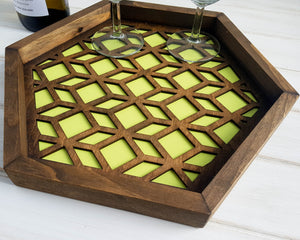 Coffee Table Tray, Wood Serving Tray, Modern Tray, Coffee Tray, Nightstand Decor, Tea Tray, Catch All Tray, Catch All, Trinket Tray, Green