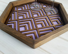 Load image into Gallery viewer, Coffee Table Tray- Wood Serving Tray- Modern Tray - Coffee Tray -Nightstand Decor- Tea Tray- Catch All Tray- Catch All- Trinket Tray- Purple