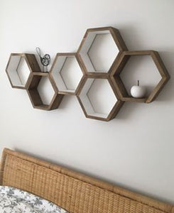 Hexagon Shelf add-on, Add Hardware kit to any shelf order form our shop