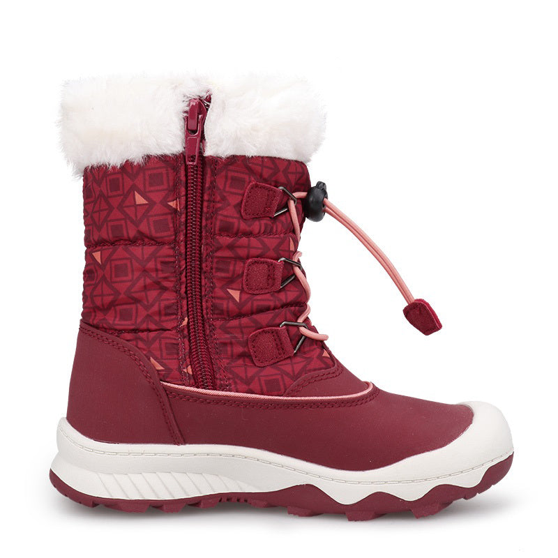 Weinflux [Limited Edition] Cherry Blush Winter Snow Boots for Kids