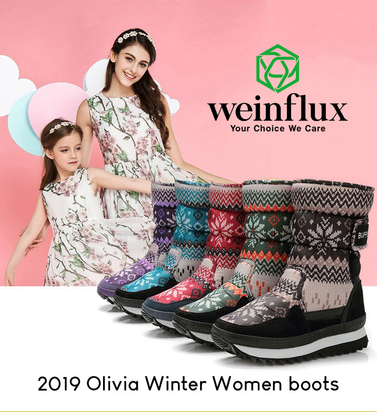 Weinflux 2019 Olivia Winter Women boots [50% OFF TODAY]
