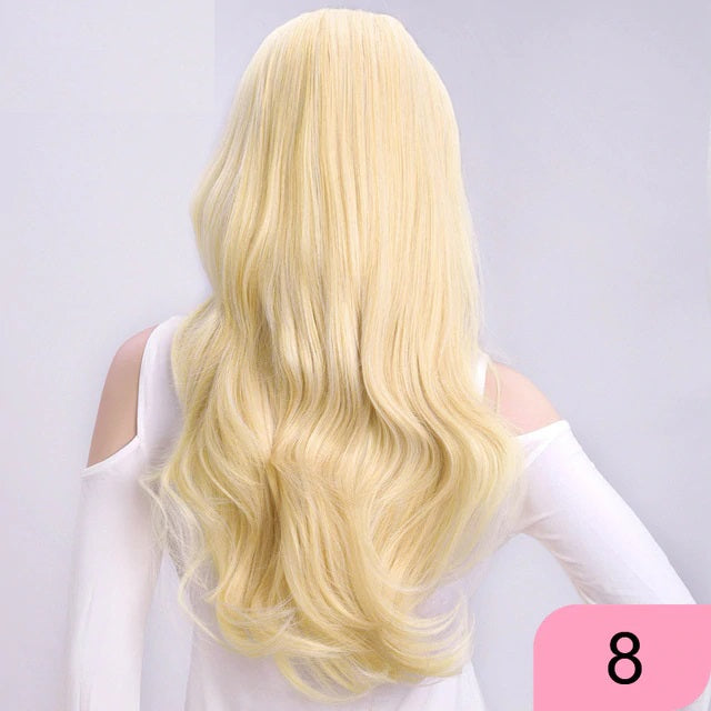 Best Choice For Dating | Wavy 3/4 Half Wig Long Synthetic Hair