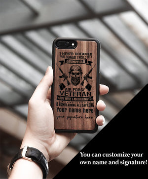 Miniwood - WeinFlux - I never dreamed that someday I would be a grumpy old Phone Case