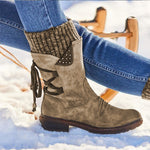 Weinflux 2020 Ladies Warm Leather Snow Boots