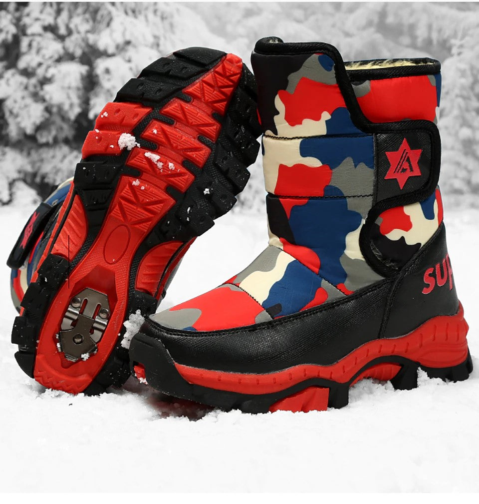 Weinflux 2019 New Fashion Sport Claw Snow Boots for Children