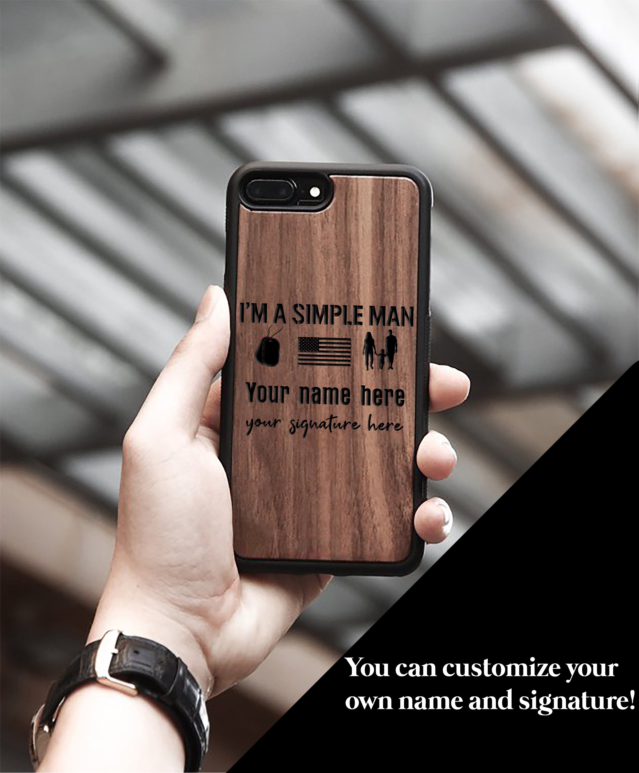 Miniwood -  I'm a simple man IPhone Case