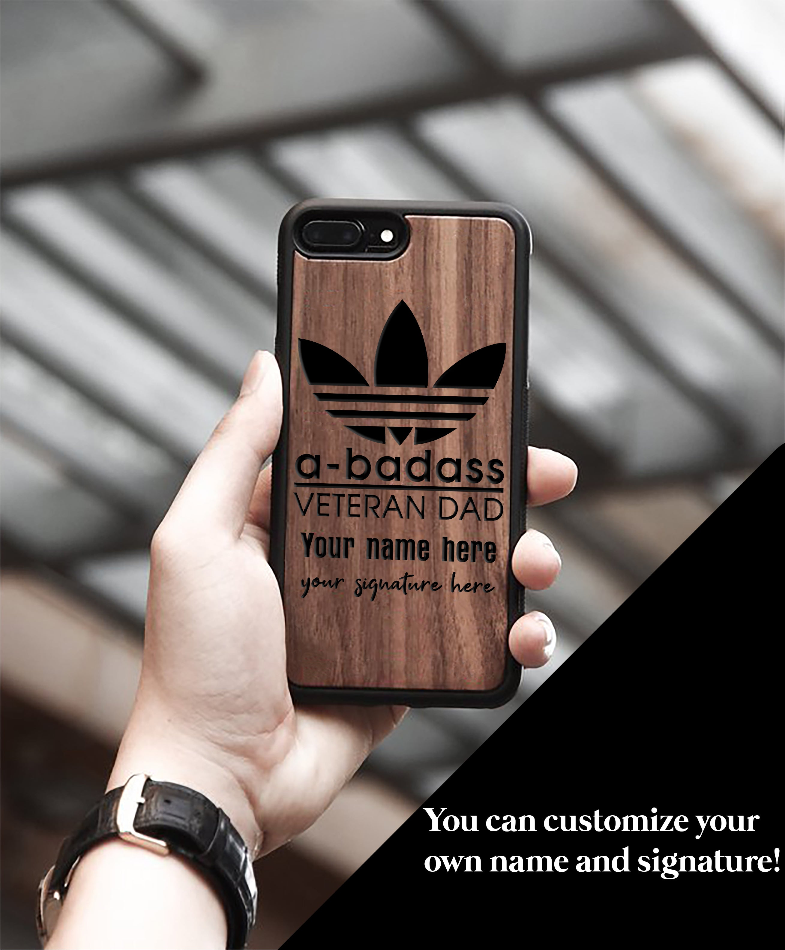 Miniwood -  Veteran Dad  IPhone Case