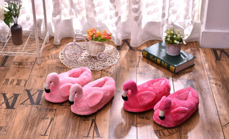 Weinflux 2019 Winter Women Indoor Flamingo Slippers