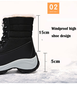 2019 Women Waterproof Non-slip Winter Boots