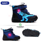 Weinflux 3D Dinosaur LED Snow Winter Boots
