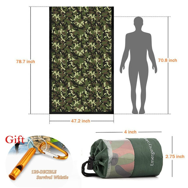 Outdoor Emergency Thermal Sleeping Bag - Camping Survival Gear