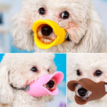 Dog Muzzle Silicone Cute Duck Mouth Mask Muzzle Bark Bite Stop Small Dog