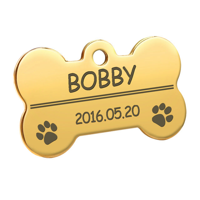 Weinflux - Personalized Paw Shape Dog Tags