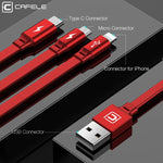 3 in 1 120cm Charger Cable Type C - Micro USB - Cable Type-c for iPhone