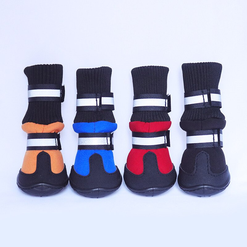 WEINFLUX Anti-slip Waterproof Warm Winter Snow Boots for Dog (4PCS/SET)