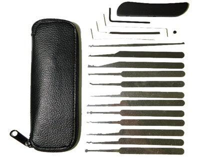 19 Piece Lock-pick Set for Professional Lock Smiths and Law Enforcement