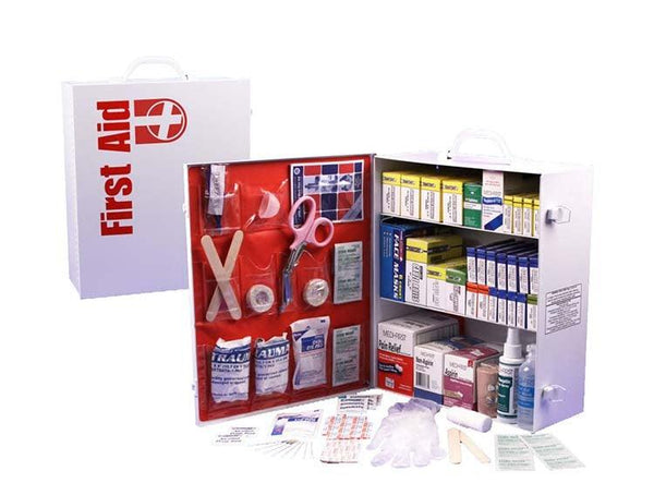 This 3-Shelf First Aid Cabinet was designed by leaders in the emergency preparedness industry.