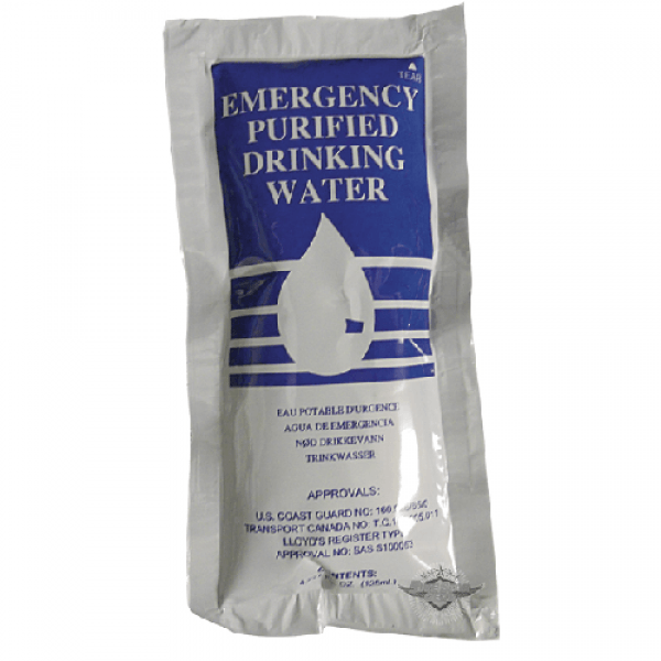 Emergency Drinking Water rations are filtered and bagged in a specially designed polymer-foil sachet.with minimum of five years shelf life.