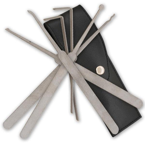 6 Piece Lock Pick Kit for Professional Lock Smiths & Law Enforcement