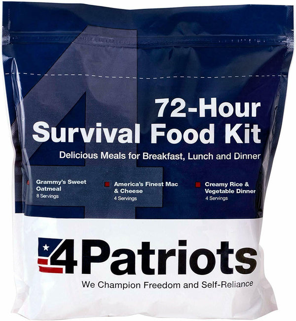 72 hour emergency survival food kit.