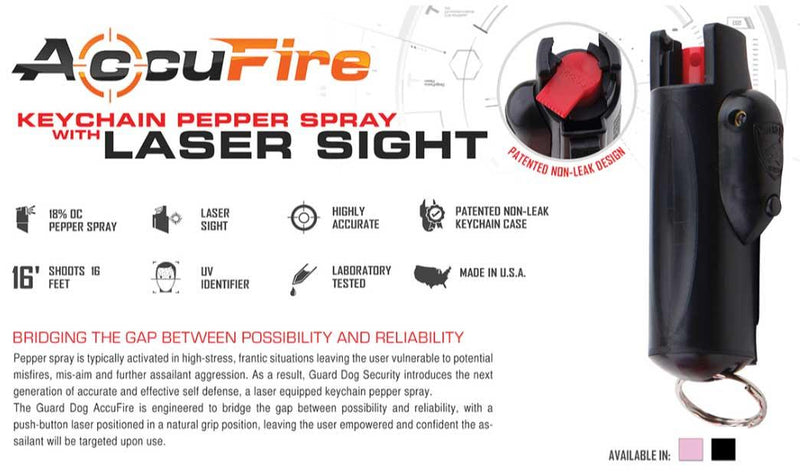 AccuFire Laser Pepper Spray Black
