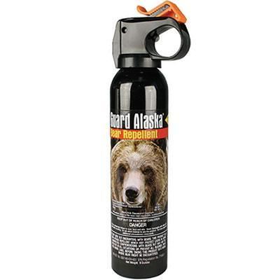 Guard Alaska powerful bear spray with effective spray distance 20 feet.