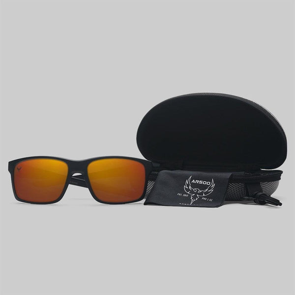 AR500 Armor black and orphanage shooting glasses for women and men personal eye-wear safety.