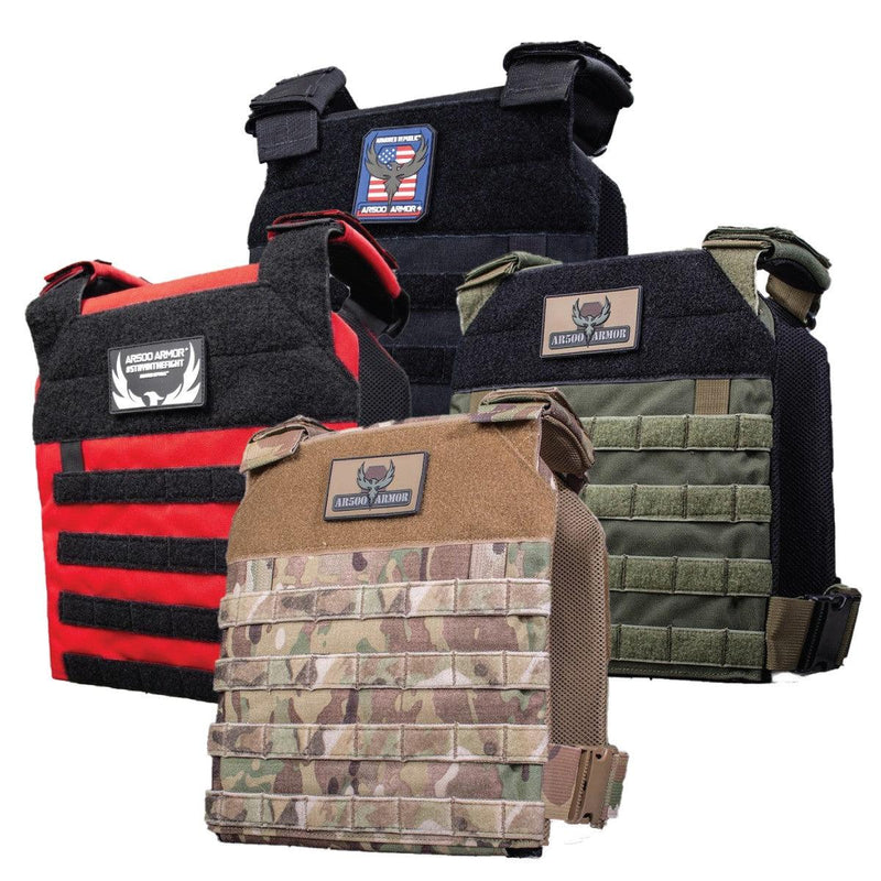 The AR500 Armor Guardian plate carrier available in several different color options.