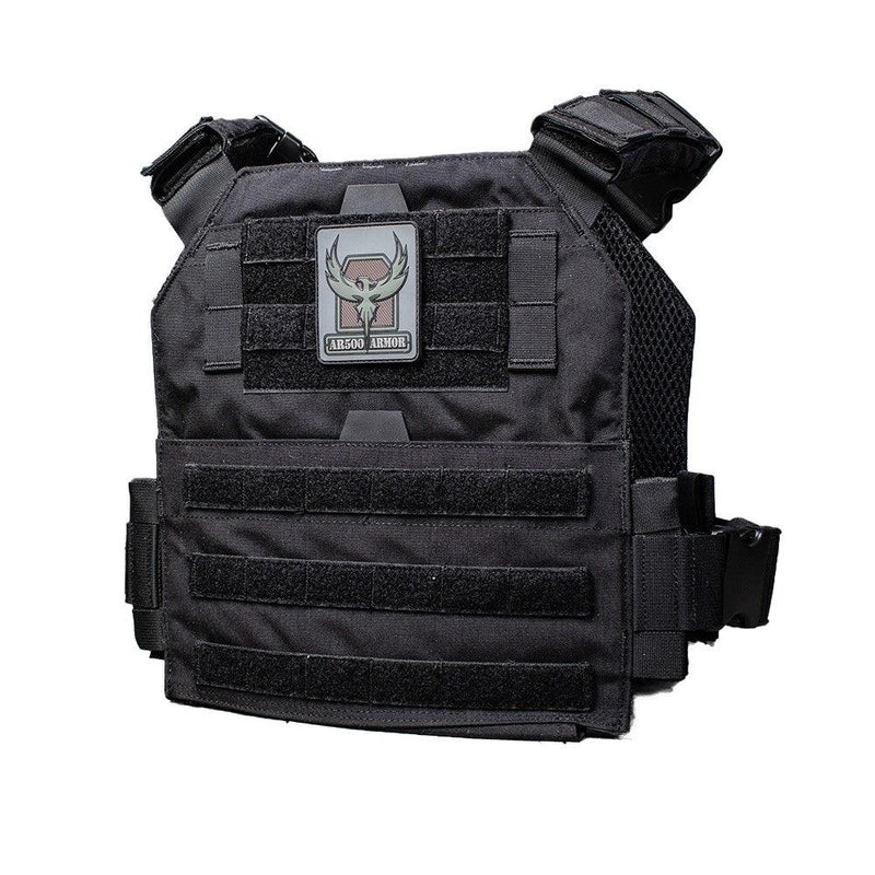 The AR500 Armor Veritas modular plate carrier in the color black.