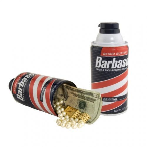 The Barbasol safe can with hidden compartment to safely hide valuables inside the secret compartment.