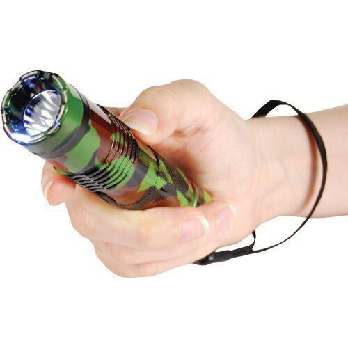 Camo Bashlite stun gun flashlight for self defense protection