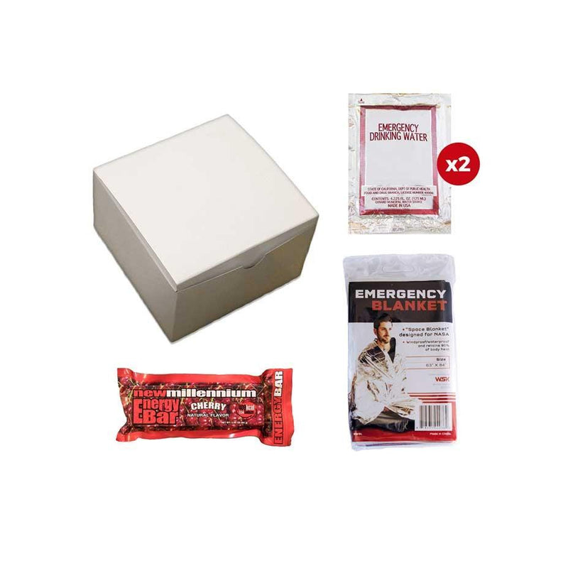 This basic survival kit contains the essential items you will need to help for 1 day in a disaster. It is packaged in a durable box to ensure that the items remain protected until they are needed.