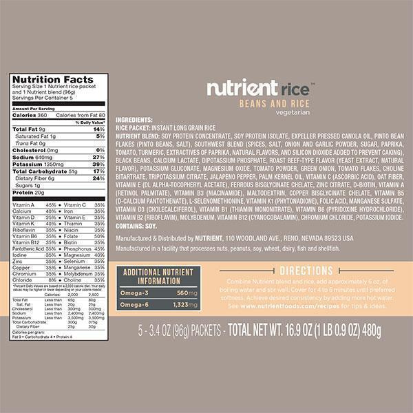 Nutrient Beans & Rice 20 Pack