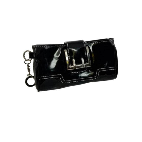 Black Purse Wallet with Lanyard and Key-chain