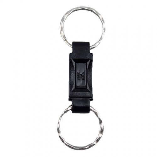 Break away key ring for stun guns and pepper sprays allows you to quickly pull and use for self defense protection.