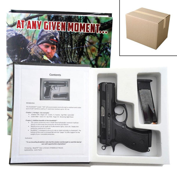Bulk wholesale discount pricing for this diversion safe book for safely hiding hand guns inside the secret compartment.