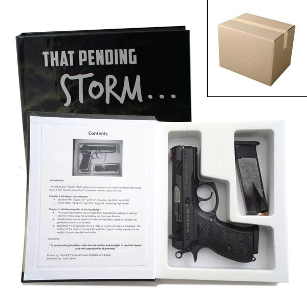 Low cost on line bulk wholesale pricing for this diversion safe book for safely hiding hand guns inside the secret compartment med large size.