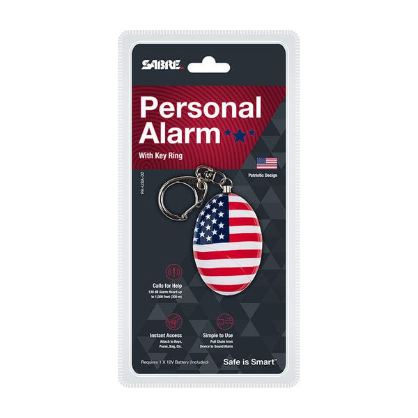 6 Units SABRE Personal Alarm with Snap Hook and Wristlet - USA